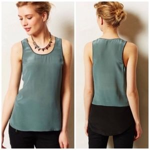 Anthropologie Maeve women 6 100% silk tank top